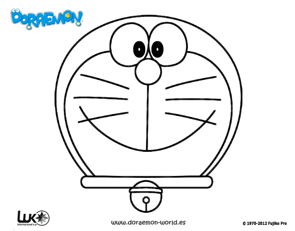 Dibujo de Doraemon, el gato cósmico para Colorear ...