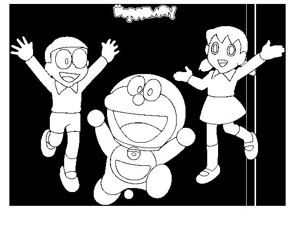 Dibujo de Doraemon y amigos para Colorear  Dibujosnet