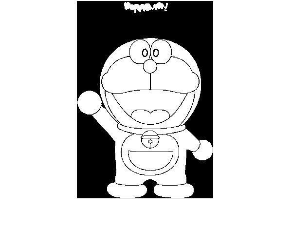 Dibujos Para Colorear E Imprimir De Doraemon: Dibujo De Doraemon Para Colorear