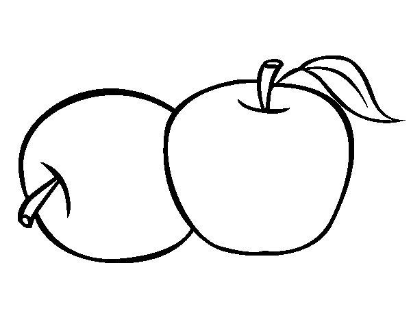 Dibujos Para Colorear De Manzanas Dibujo De Dos Manzanas Para