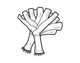 Dibujo de Dos puerros para colorear