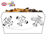 Dibujo de Dr Oetker Junior Chef Molde aviones para colorear