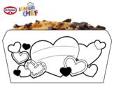 Dibujo de Dr Oetker Junior Chef Molde corazones para colorear