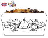 Dibujo de Dr Oetker Junior Chef Molde cupcakes para colorear