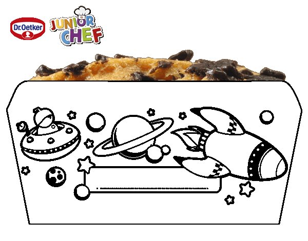 Dibujo de Dr Oetker Junior Chef Molde el espacio para Colorear