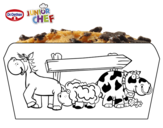 Dibujo de Dr Oetker Junior Chef Molde la granja