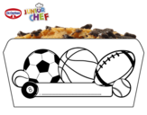 Dibujo de Dr Oetker Junior Chef Molde pelotas para colorear