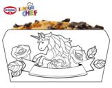 Dibujo de Dr Oetker Junior Chef Molde poni para colorear