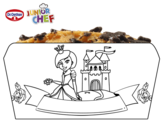 Dibujo de Dr Oetker Junior Chef Molde princesa para colorear