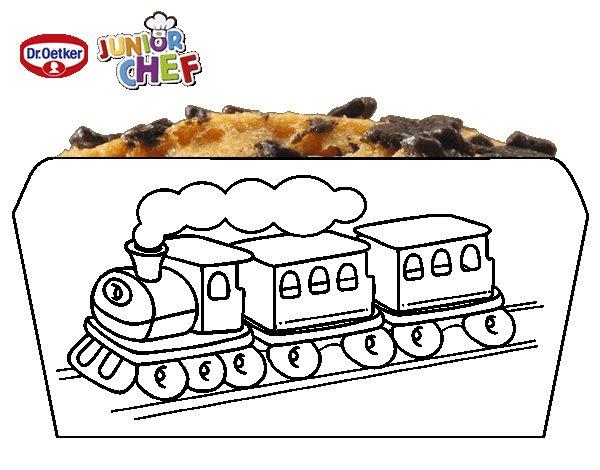 Dibujo de Dr Oetker Junior Chef Molde tren para Colorear