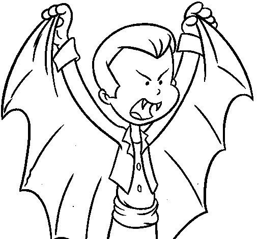 Dibujo de Draculín para Colorear