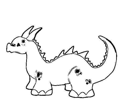 Dibujo de Dragón bebé para Colorear