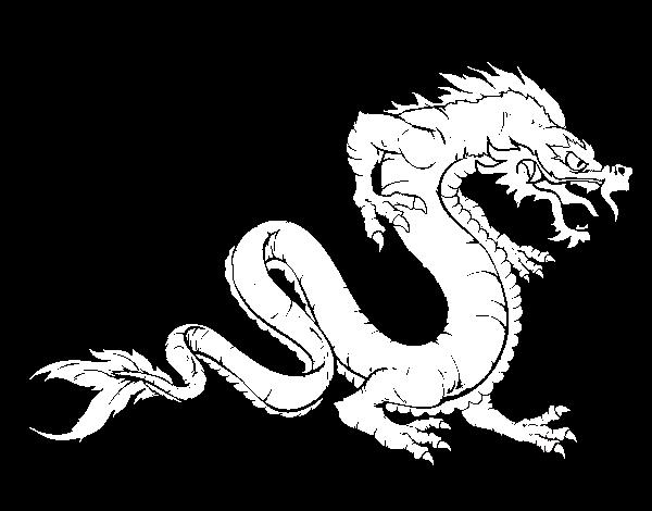 Dibujo de Dragón caminando para Colorear