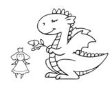 Dibujo de Dragón de Sant Jordi para colorear