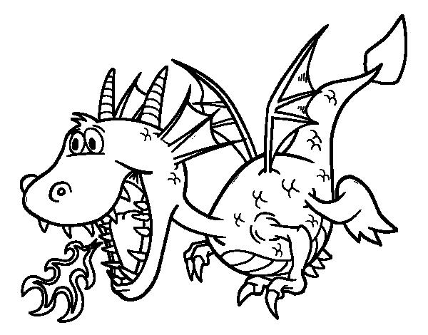 Colorear Dragones Para Dragones Para Colorear: Dragones Escupiendo Fuego Para Colorear