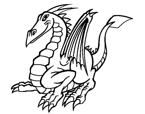 Dibujo De Dragón Elegante Para Colorear