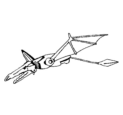 Dibujo de Dragón robot para Colorear