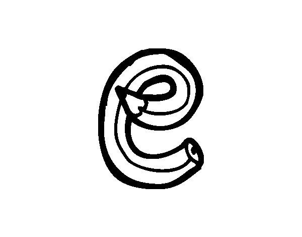 Dibujo de E minúscula para Colorear