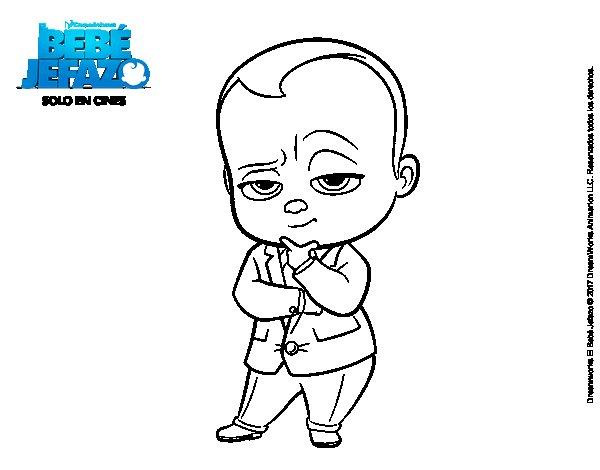 Dibujo de El Beb Jefazo vestido con traje para Colorear  Dibujosnet