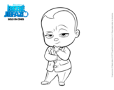 Dibujo de El Bebé Jefazo vestido con traje para colorear