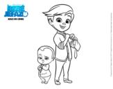 Dibujo de El Bebé Jefazo y Tim Templeton