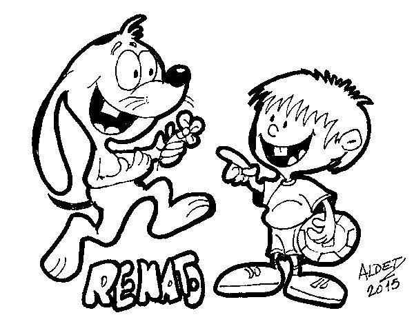 Dibujo de El conejo Renato para Colorear