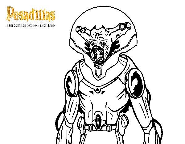Dibujo de El extraterrestre para Colorear