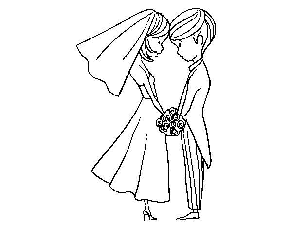 Dibujos De La Mujer Maravilla Para Colorear E Imprimir: Dibujo De El Marido Y La Mujer Para Colorear