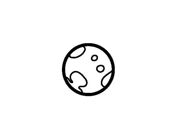 Dibujo de El planeta enano Plutón para Colorear