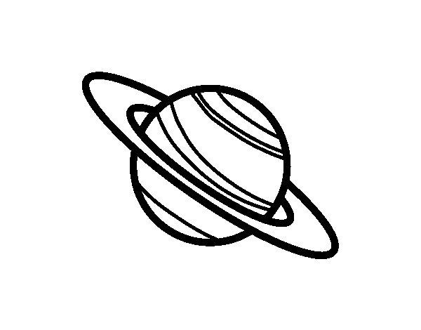 Dibujo de El planeta Saturno para Colorear