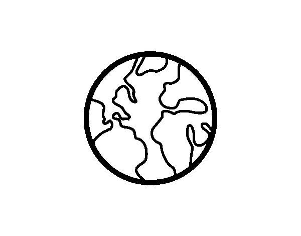 Dibujo de El planeta tierra para Colorear