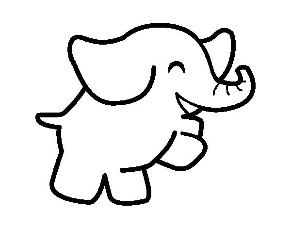 Dibujo de Elefante bailarn para Colorear  Dibujosnet