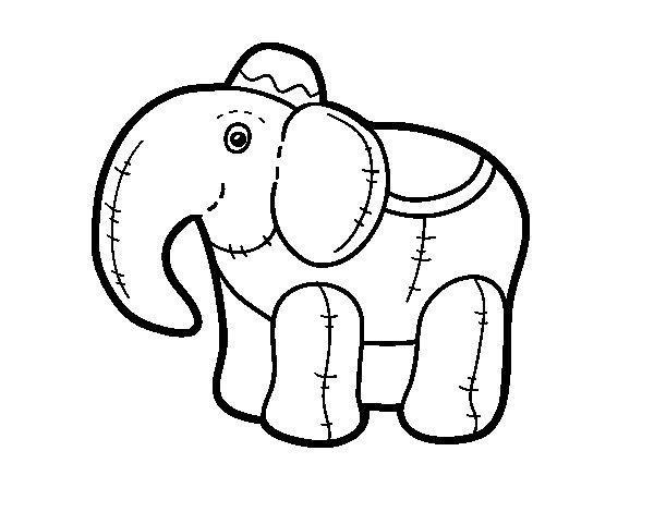 Dibujo de Elefante de trapo para Colorear  Dibujosnet