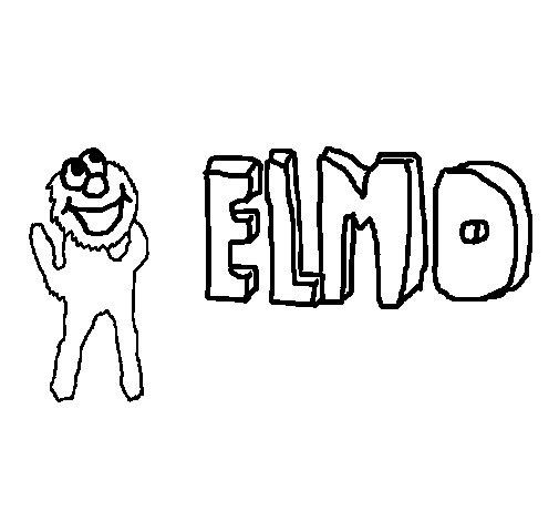 Dibujo de Elmo 1 para Colorear