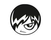 Dibujo de Emoticono Emo para colorear