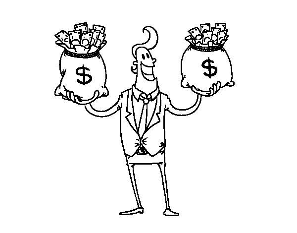 Dibujo de Empresario corrupto para Colorear
