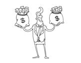 Dibujo de Empresario corrupto