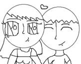 Dibujo de Enamorados 1 para colorear