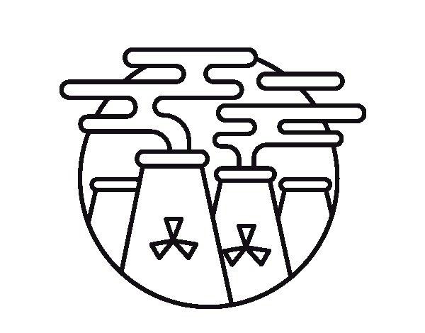 Dibujo de Energía Nuclear para Colorear