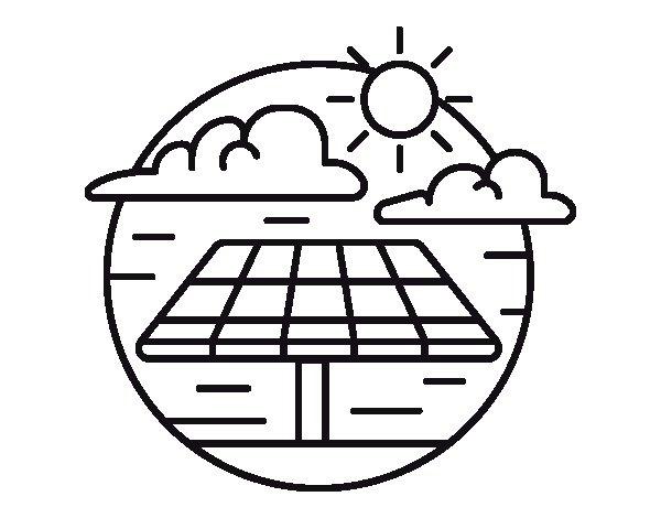 Dibujo de Energía solar para Colorear - Dibujos.net