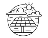 Dibujo de Energía solar para colorear