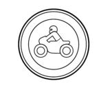 Dibujo de Entrada prohibida a motocicletas para colorear