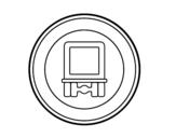 Dibujo de Entrada prohibida a vehículos que transportan mercancías peligrosas para colorear