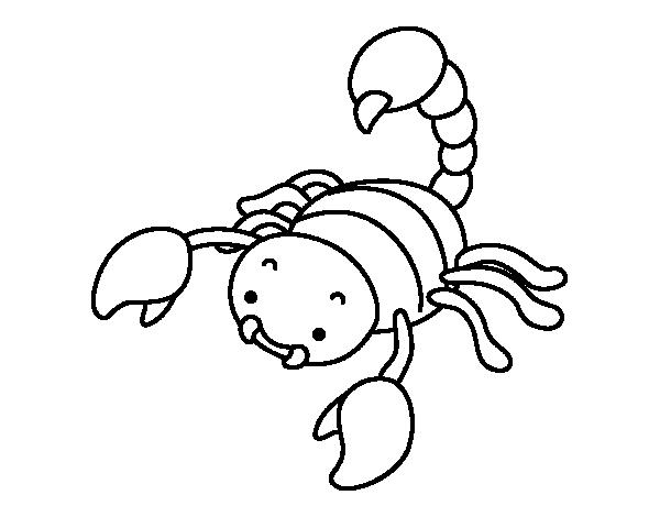 Dibujo de Escorpin con el aguijn levantado para Colorear