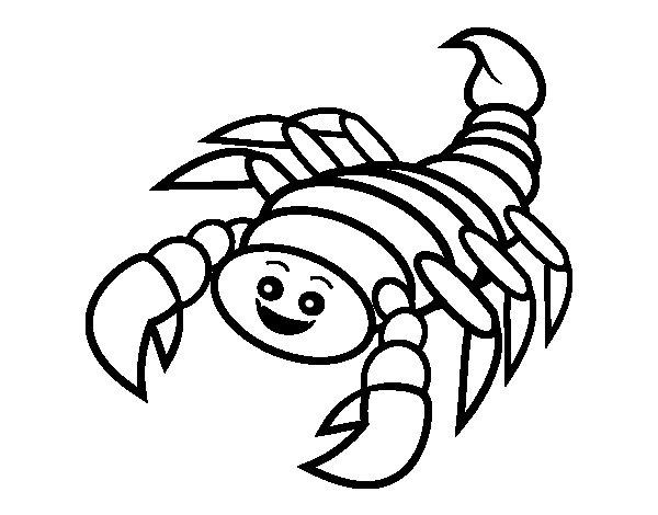 Dibujo de Escorpin feliz para Colorear  Dibujosnet