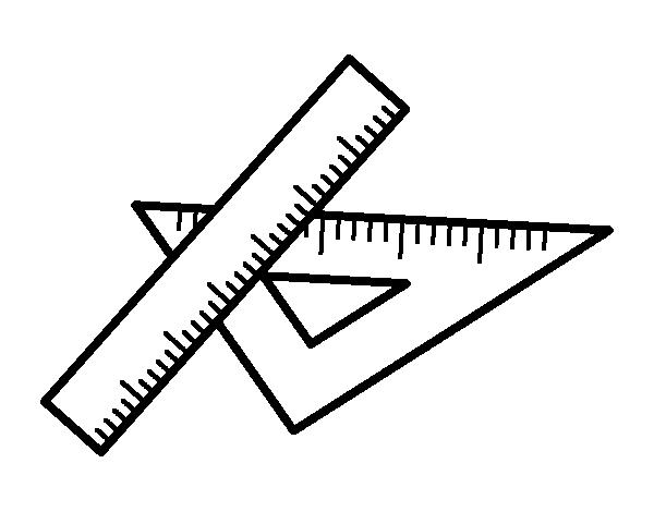 Dibujo de Escuadra y regla para Colorear  Dibujosnet