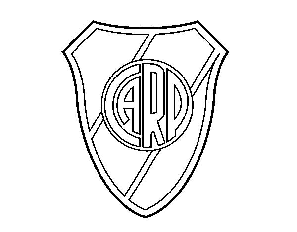 Dibujos Escudos De Futbol Para Colorear: Dibujo De Escudo Atlético River Plate Para Colorear