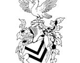 Dibujo de Escudo de armas y aguila  para colorear