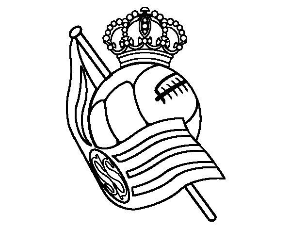 Dibujo de Escudo de la Real Sociedad de Ftbol para Colorear