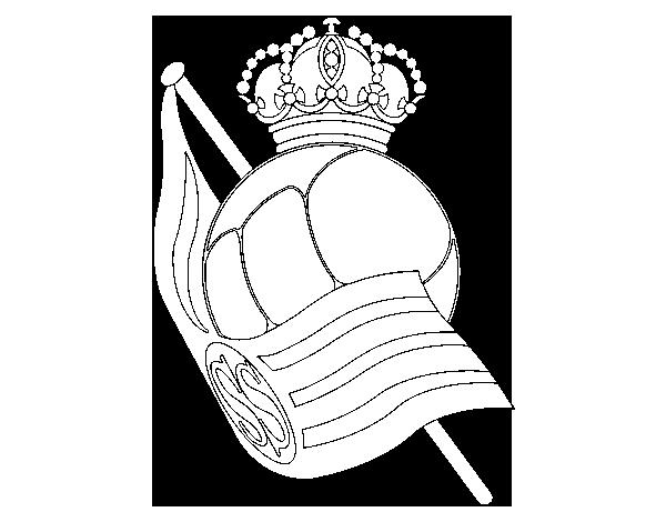 Dibujo de Escudo de la Real Sociedad de Fútbol para Colorear